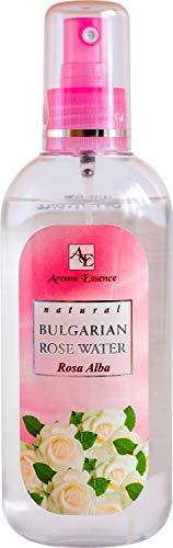 Acqua di rosa bianca naturale spray 200 ml, tonico idratante viso corpo e capelli all'acqua di rose, nebbia idratante viso calmante alla rosa, per pelle irritata e acneica