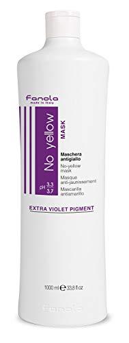 Fanola No yellow Mask-Extra Violet Pigment/Maschera Antigiallo, 1000 ml