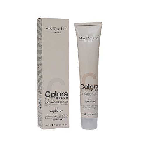 Maxxelle ultra color - trattamento colore a basso contenuto di ammoniaca con estratto di goji, 5.7 castano chiaro cioccolato (100ml)