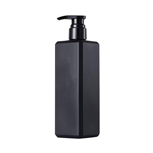 Yarnow - Dispenser di sapone ricaricabile, vuoto, per sapone da cucina, sapone liquido, shampoo, lozioni, dispenser di mano, 500 ml, colore: Nero, Plastica, Nero , 21 × 6cm