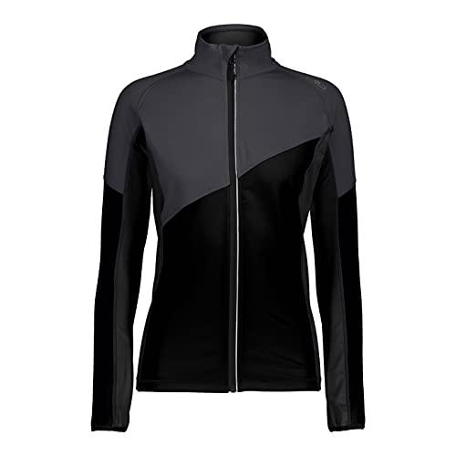 CMP Unlimitech Rolli - Maglia da donna in jersey di carbonio, Donna, 38L4306, Nero/Asphalt, 34