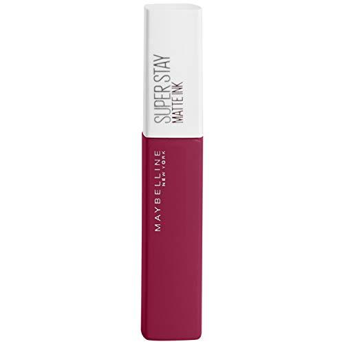 MAYBELLINE New York Rossetto Liquido Superstay Matte Ink Pinks, Tinta Labbra a Lunga Tenuta, 145 Front