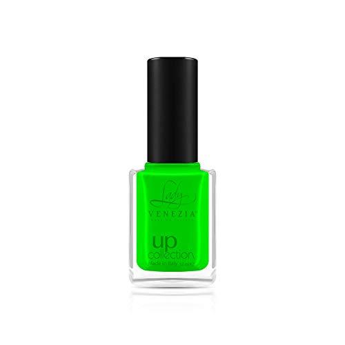 Smalto asciuga rapido per unghie UP COLLECTION 170 colori esclusivi Boccetta da 12 ml (COL. 094-12 ML - VERDE FLUO)
