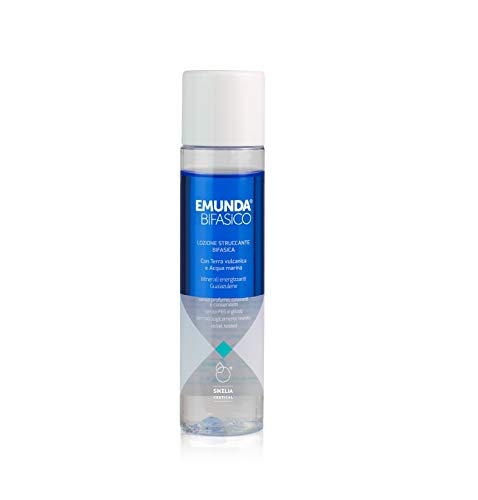 EMUNDA® BIFASICO | Struccante Bifasico Occhi e viso | Waterproof | | 125 ml | Occhi e Labbra Sensibili | Delicato | Non brucia | Ingredienti Bio