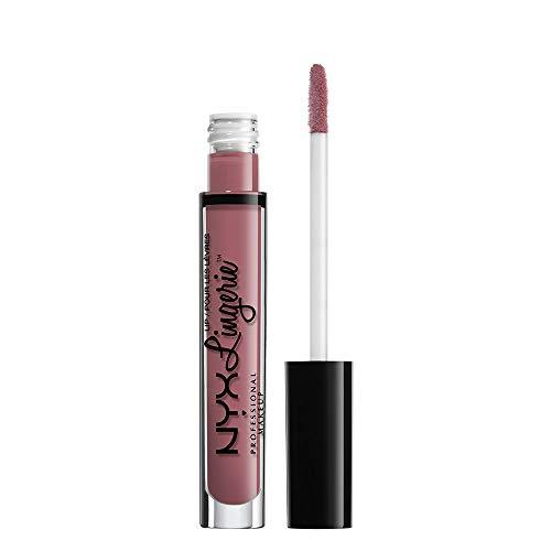 NYX Professional Makeup Rossetto Liquido, Lip Lingerie Liquid Lipstick, Finish Matte e Cremoso, Lunga durata, Tonalità: Embellishment