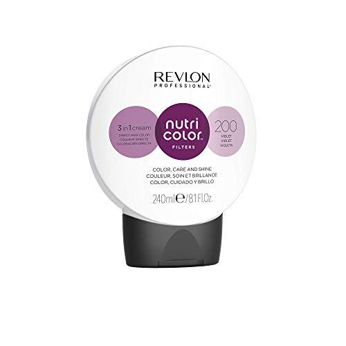 REVLON PROFESSIONAL Nutri Color Filters Maschera Colorata Capelli, Protettiva, Istantanea e Multidimensionale, Viola - 240 ml
