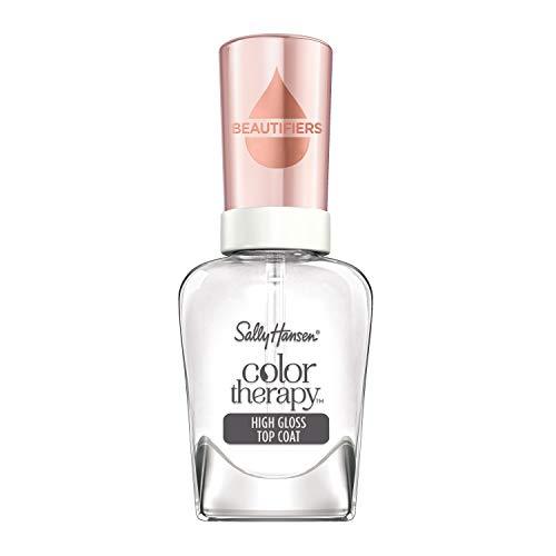 Sally Hansen, Smalto Unghie Color Therapy Nail Beautifiers, High Gloss Top Coat, Smalto Trasparente