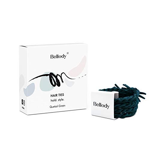 Bellody® Original elastici per capelli- Eleganti elastici intrecciati a tenuta sicura (4 pezzi - Quetzal Green)