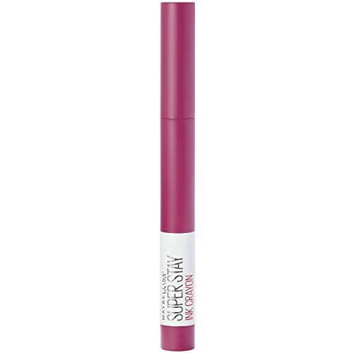 Maybelline New York Rossetto Super Stay Ink Crayon, opaco, di lunga durata, n. 35 Treat Yourself, 1,5 g