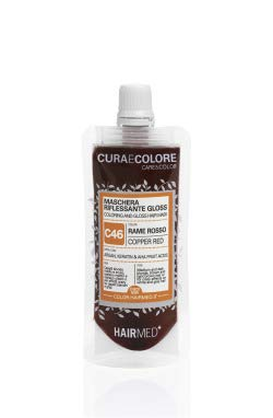 HAIRMED - Cura e Colore - Maschera Riflessante Capelli - Bagno di Colore Senza Ammoniaca - Gloss C46 - Rame Rosso - 40 ml