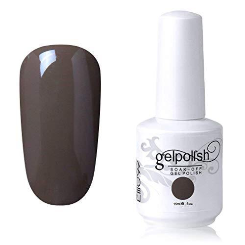 Elite99 Smalto Semipermente per Unghie in Gel UV LED Smalti per Unghie Soak Off per Manicure Grigio 15ML - 1541