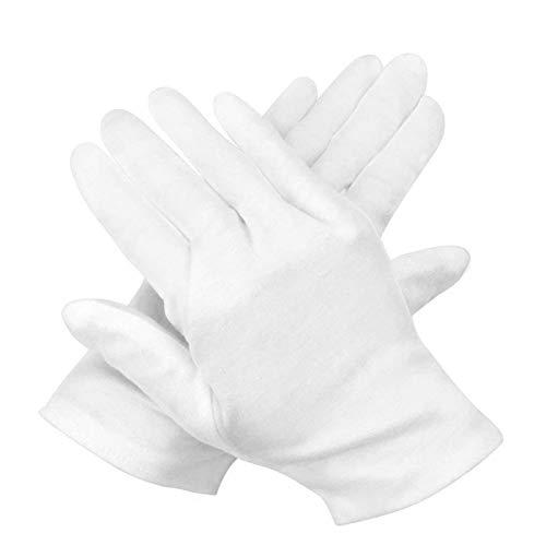 guanti di cotone bianchi,guanti lavoro bianchi,guanti lavoro cotone,guanti per Ispezione gioielli,guanti di cotone,guanti bianchi