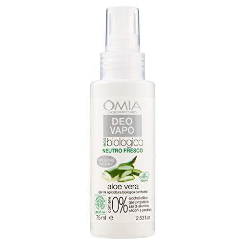 Omia, Deo Vapo Eco Biologico con Aloe Vera, Deodorante Sudorazione Intensa - 75 ml