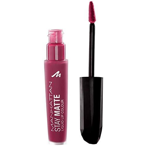 Manhattan Stay Matte Liquid Lip Colour, colore 310Central, Rosa, 6ML