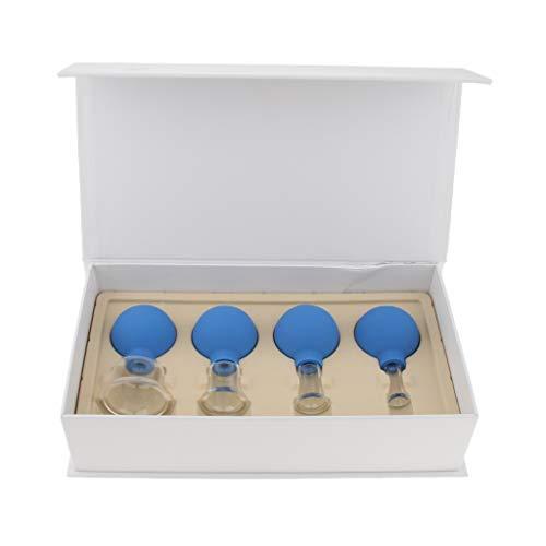 Baoblaze Set Di Coppettazione Sottovuoto In Silicone Per Massaggio Anticellulite In Silicone 4 Pezzi