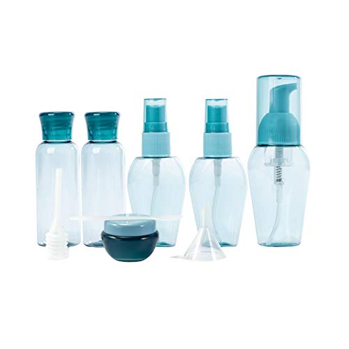 Travel Bottles Kit Travel Bottles Kit Leak Proof Portable Toiletry Containers Squeezable Refillable Plastic Bottle for Lotion Shampoo Cream Soap Blue Set of 6