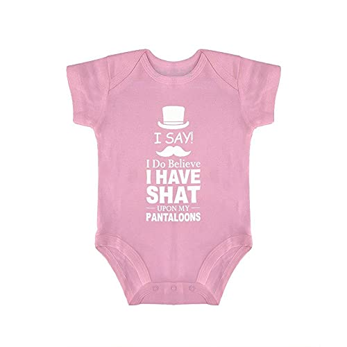 DKISEE I Say, I Do Believe I Have Shat On My Pantaloons Baby Body Manica Corta Rosa Baby Onesies 6-9 Mesi, qlc3vv2r5wgq