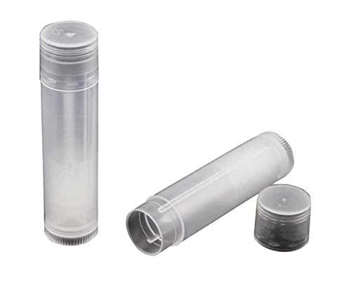 5g confezione da 10tubi vuoti in plastica trasparente rotondo balsamo per le labbra Transparent