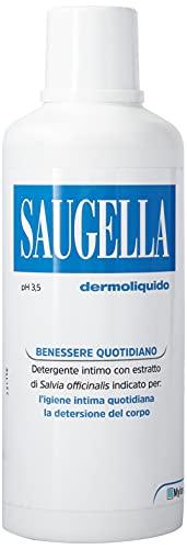 Saugella, Dermoliquido, Detergente Per L'Igiene Intima Quotidiana a base di Salvia Officinalis, 750 ml