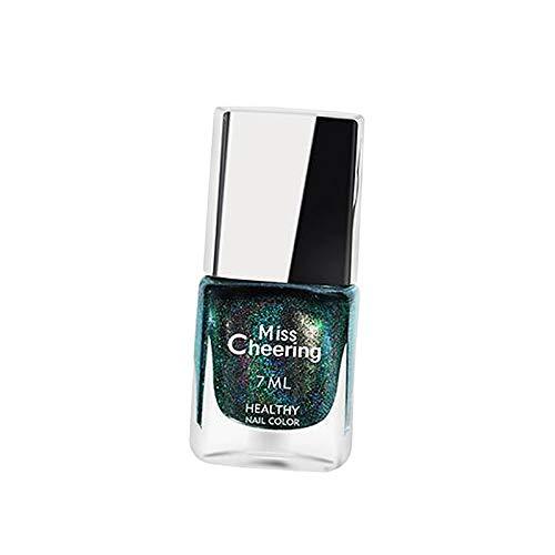 MERIGLARE Salon Nails Glitter Pigment Nail Polish Punte per Manicure Olografiche Polvere 7ml - LS08