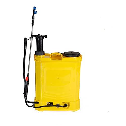 JHONSORR Pompa a Spalla elettrica a Batteria da Giardino da 18 lt irroratrice nebulizzatore spruzzino Doppia Funzione Batteria e Manuale parassiti Erbacce Pompa a Zaino a Batteria Fertilizzante