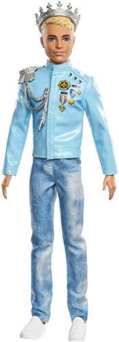 Barbie Princess Adventure Principe Ken, Bambola Alta 30 cm, Giocattolo per Bambini 3+ Anni, GML67