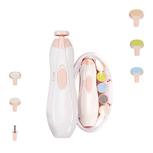 Tagliaunghie per bambini, Tagliaunghie per bambini 8 in 1 | Tagliaunghie elettrico sicuro per bambini, kit di lime per unghie per bambini, kit per la cura delle unghie per neonati - Luce LED
