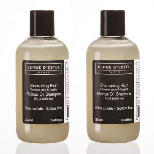 Shampoo Ricino Senza Solfati 500ml Shampoo per Capelli Molto Secco Ricci o Crespi Shampoo Naturale con Olii Essenziali Non Testado en su Animales Fatto en Francia