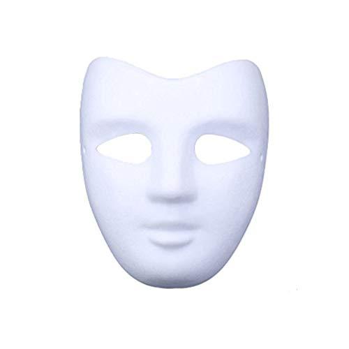 Meimask Maschera Verniciata Della Mascherina Della Mascherina Di Carta Bianca Di Diy Bianca Della Mascherina Di Disegno Della Maschera(V viso)