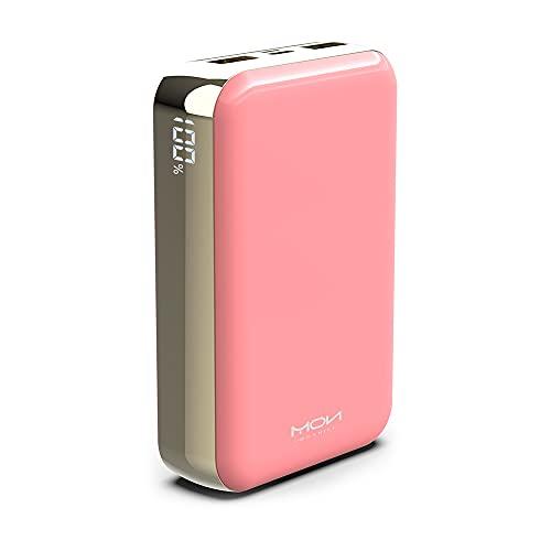 MOXNICE Powerbank 20000mAh Power Bank, USB C Batteria Esterna Caricatore Portatile con 2 Uscite USB per Smartphone e Tablet (Rosa)