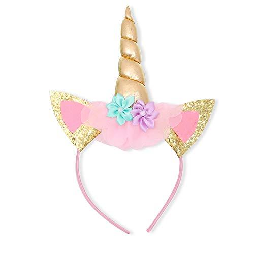 TTYAOVO Fascia per Bambina Unicorno (Taglia Unica, Unicorno Cerchietto per Capelli)
