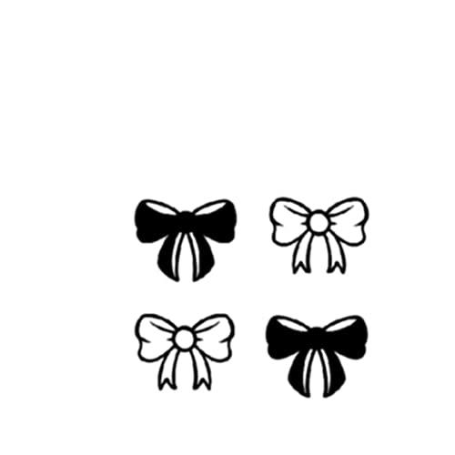 YLGG Adesivi per Tatuaggi temporanei alla Moda con Fiocco Adorabili, Adatti per Uomini e Donne, Impermeabili, Rimovibili