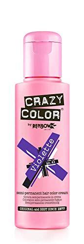 Crazy Color Crema Colorante Vegetale per Capelli , Violette - 100 ml