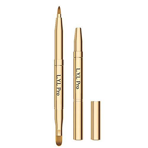 L.Y.L Pro Gold - Pennelli retrattili per labbra a doppia punta, retrattili, da viaggio, per regali di Natale