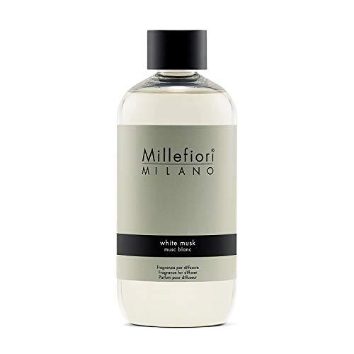 Millefiori Milano Ricarica per Diffusore di Aromi per Ambiente, Fragranza, White Musk, 250 ml