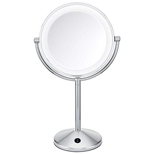 BaByliss 9436E Specchio Luminoso a LED, Rotondo, Ingrandimento Double Face x 10