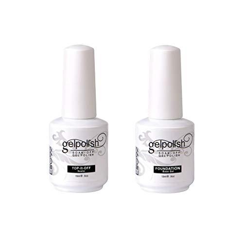 Elite99 Smalto Semipermente per Unghie in Gel UV LED Base e Top coat Semipermanente 2pzs Kit per Manicure Smalti Gel per Unghie Soak Off 15ml