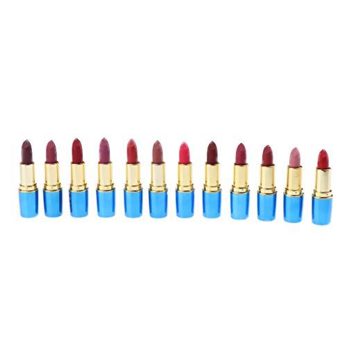 12PCS Matte Long Durance Waterproof Lipstick Pencil Lip Gloss Rouge Set Lotto