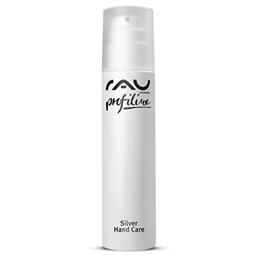 RAU Silver Hand Care Profiline 200 ml - Crema Idratante Per La Pelle Secca mani - anche per gli uomini della pelle - Anti Age Crema Per Le Mani Con Luce Naturale Fattore di Protezione