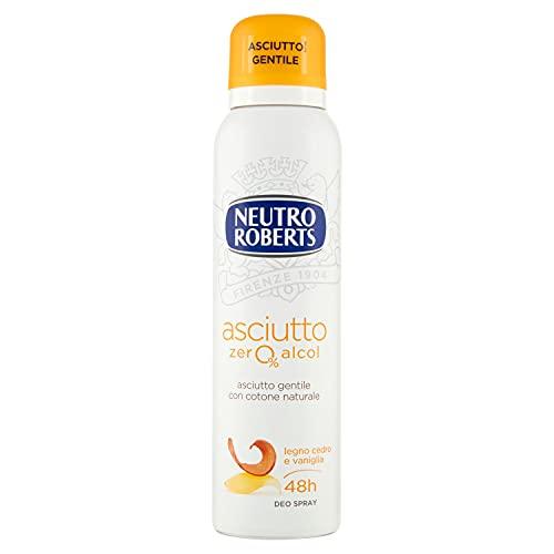 Neutro Roberts Deodorante Spray Asciutto Legno, Cedro e Vaniglia - 150 ml