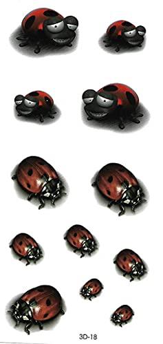 Adesivi Per Tatuaggi Temporanei A Braccio Completo, Adesivi Per Tatuaggi Temporanei Impermeabili Per Bambini, Adulti, Adesivi E Body Art Immagine Dell'Insetto Dell'Ape Della Coccinella Della Lumaca
