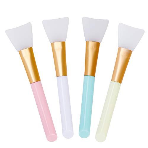 Pennello Maschera Viso Applicatori Cosmetici in Silicone Senza Punta Maschera Strumento di Bellezza Morbido 4Pcs