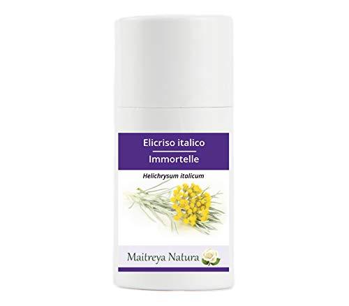 Maitreya Natura Olio Essenziale biologico ELICRISO ITALICO, 100% puro e naturale, 2ml - aromaterapia, diffusore, massaggio, cosmetica - qualità controllata e certificata, vegan