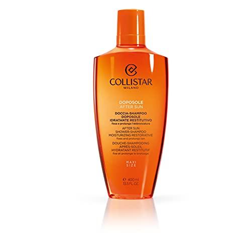 Collistar Doccia-Shampoo Doposole Idratante Restitutivo, Bagnoschiuma delicato per Corpo e Capelli, Elimina residui di salsedine, prodotti solari e impurità , Prolunga l'abbronzature, 400 ml