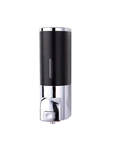 400ml Dispenser Manuale per Sapone Liquido a Muro, Erogatore Sapone a Mano da Parete con Adesivo, Dispenser Shampoo e Bagnoschiuma per Doccia. (Nero)