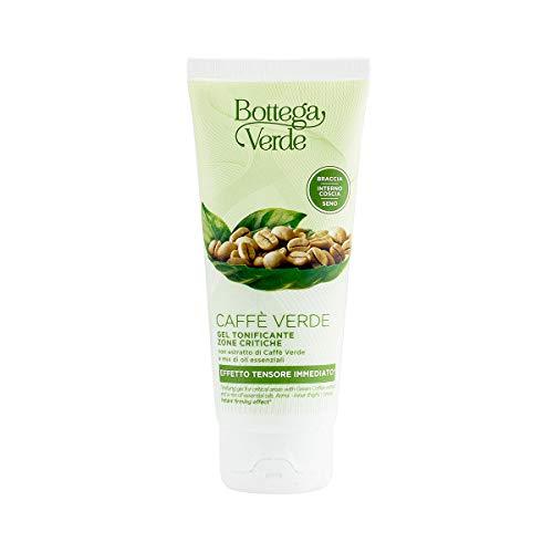 Bottega Verde, Caffe Verde - Gel tonificante zone critiche - con estratto di Caffe Verde e mix di oli essenziali (100 ml) - effetto tensore immediato* - braccia - interno coscia - seno