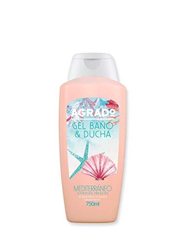 Gel da bagno e doccia idratante PH neutro bagnoschiuma mediterraneo aroma agrumi 750 ml gel del mondo AGRADO