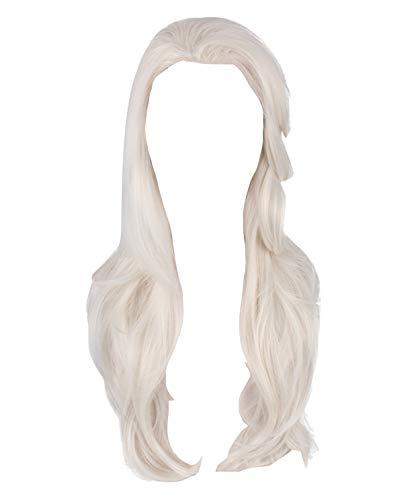 VersusModa Vestito Bambina Carnevale Simile Elsa Bianco Regina delle Nevi 2 - Similar Elsa 2 White Child Cosplay Dress FROZ036 B (Solo Parrucca Capelli Sciolti, Taglia Unica)