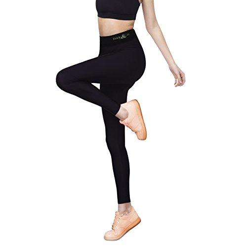 Body&Co Legging Sportivo con Fibra Emana® Che Attiva Il microcircolo snellisce per Gambe Pesanti tonificante
