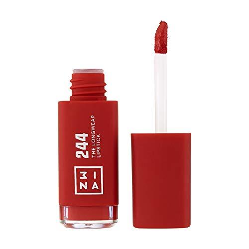 3INA MAKEUP - Cruelty Free - Vegano - Rossetto Liquido - Lucidalabbra Matt a Lunga Durata - Rosso - The Longwear Lipstick 244